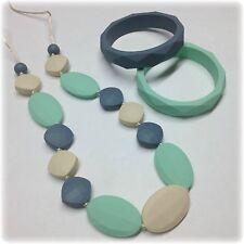 Teething Necklace Nursing Jewelry Silicone Baby Teether Bracelet Baby Gift Set