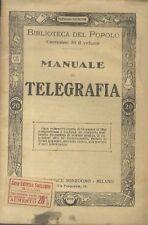 Manuale di telegrafia.