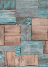 Gemusterte Wandtapeten mit Holzoptik