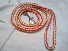 Paracord Large Dog Leash Braided Hand made (color) Red and Yellow (4 foot)