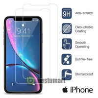 9H+ Premium Tempered Glass Film Screen Protector for iPhone 11 X XR 8 7 Plus 6 5