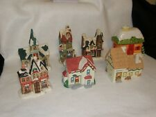Vintage Christmas Villages Houses all seven one price Price Reduced