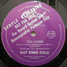 Nat King Cole- RARE Radio Station Promo single Australia- unreleased- CP.1107
