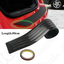 Car Trunk Pad Bumper Rear Protector Sill Rubber Cover Guard Pad Carbon Fibre