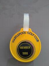 More details for vintage hartlepool 1980 plastic golf club bag tag