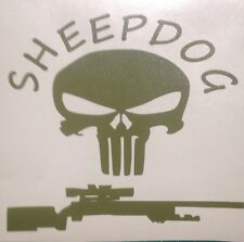 SHEEPDOG PUNISHER Sniper Decal, Seals, Marines, Army, Military, Police Swat