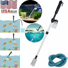 Electric Gravel Cleaner Pump Aquarium Fish Tank Automatic Vacuum Water Change US