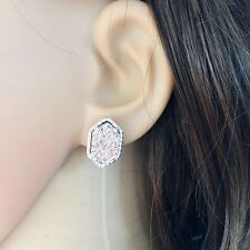 Sparkling Drusy Fast Ship Usa Soft Rose Druzy Kendra Style Earrings