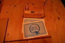 Nos 1969 Ford Mustang Quality care floor mats, nice detail for Boss or Mach 1
