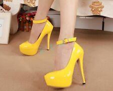 UK SZ Womens Shoes Court Patent Leather Stilettos Super High Heels Wedding Pumps