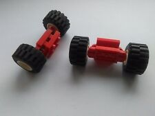 4 X LEGO WHEELS WITH SPRING SUSPENSIONS