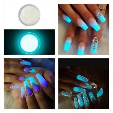 Glow In the Dark Fluorescent Acrylic Powder Mix Nail Extension Art Fake Tips 5ml