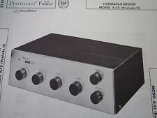 HARMAN KARDON A-12 PRELUDE II AMP AMPLIFIER PHOTOFACT