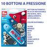 SET 10 BOTTONI A PRESSIONE PRYM AUTOMATICI 15MM PER ABBIGLIAMENTO E ACCESSORI