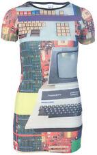 Vestiti da donna a manica corta tunica multicolore