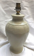 Vintage Ivory Ceramic Table Lamp by Marks & Spencer