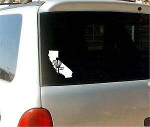 Any State - Disc Golf Basket Sticker Vinyl Decal Silhouette - Car Window Innova