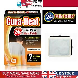 Cura Heat Back and Shoulder Pain 1 Pack of 7 Patches Relief Air Activated 24H