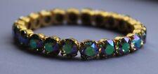 Gold Plated Paradise Shine Tennis Bracelet made with Swarovski Crystal Elements