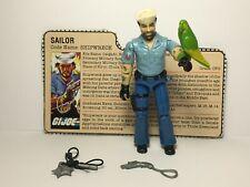 GI Joe Shipwreck V1 1985 100% Complete Action Figure Bird Hook Pistol