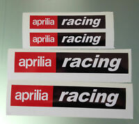 TP 4er Set Aprilia Racing Aufkleber / Aufkleber (2 Large & 2 Medium) / 1011