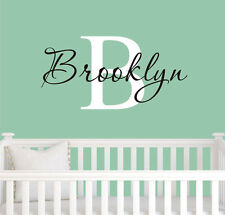 Removable Big Initial Custom Baby Name Vinyl Wall Paper Decal Art Sticker Q941