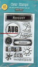 HERO ARTS Clear Stamp MONTH AUGUST Summer Fun Leo Thank