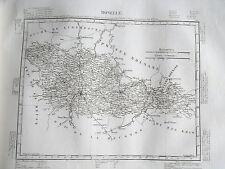 57 Moselle gravure carte géographique Tardieu 1840 (1c)