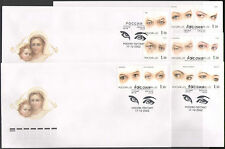 Russia 2002 Eyes/Medical/Health/People 10v set 5 x FDC's (n36773)