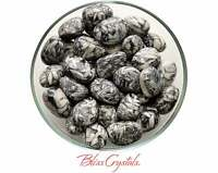 1 Large PINOLITH Tumbled Stone Grade A, Graphite, Dolomite and Magnesite #PT07