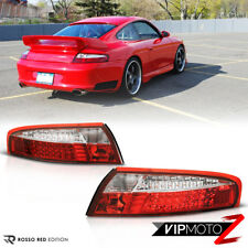 Porsche 911 Carrera 98-04 RED+CLEAR LED Tail Light Signal Lamp Pair L+R Assembly