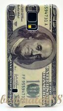fit Samsung galaxy S5 cool 100 dollars bill hard back green case cover// i9600
