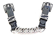 Black Latigo Flat Link Curb Chain Strap Jeremiah Watt Pistol Buckles Horse Tack