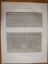 DESCRIPTION DE L'EGYPTE, 1809, ILE D'ELEPHANTINE