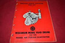 New Holland Wisconsin VG4D Engine Dealer's Parts Book Manual RWPA