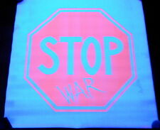 NIS RARE VINTAGE 1971 BLACKLIGHT POSTER PEACE STOP SIGN WAR PROTEST HIPPIE B2