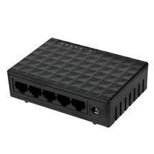 Switch Ethernet 5 porte 10 / 100 / 1000 Mbps Rete Lan HUB - Alimentatore incluso