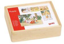 Goki Würfelpuzzle Märchen aus Holz, 20 Würfel