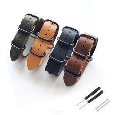 20/22/24/26mm Vintage Matt Leder Uhrenarmband Armbands Einteilig für Universal