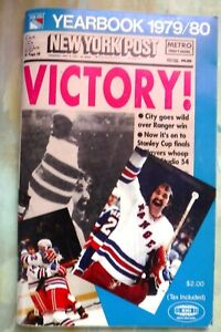 New York YEARBOOK 1979/80 New York Post VICTORY Ranger Stanley Cup MSG Exc