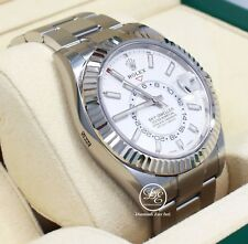 Rolex Sky-Dweller 326934 Steel White Dial Oyster Perpetual Watch BOX/PAPER *NEW*