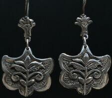 MEXICAN TAXCO JEWELRY STERLING SILVER FLOWERS EARRINGS - FRIDA KAHLO STYLE