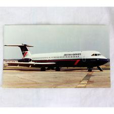 Británico Airways - BAC 1-11 - GAXJM - Avión Tarjeta postal - Bueno Calidad