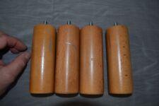 4 anciens pieds fuseau de meuble en hêtre (Ø 57mm)