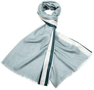 Loro Piana Essex Scarf Cashmere Silk Green Stripe 04SF0105 $950