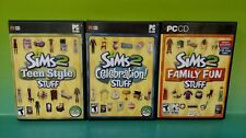 Sims 2: Teen Stuff, Family, Celebration -3 PC Games Complete Key Code on Manuals