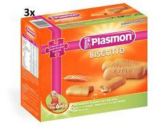 3x PLASMON Kinderkekse biscuits cookies kinder kekse ab 6 Monaten 600 gr (1800g)