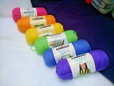 NEW Caron Simply Soft Yarn  AFGHAN SET 6 - 6oz Skeins Brites