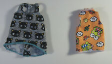 Pair of Two Barbie Hello Kitty Licenced Tops Doll Clothes Chococat Keroppi