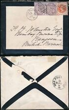 IRELAND 1891 MOURNING ENVELOPE to RANGOON Burmese India
